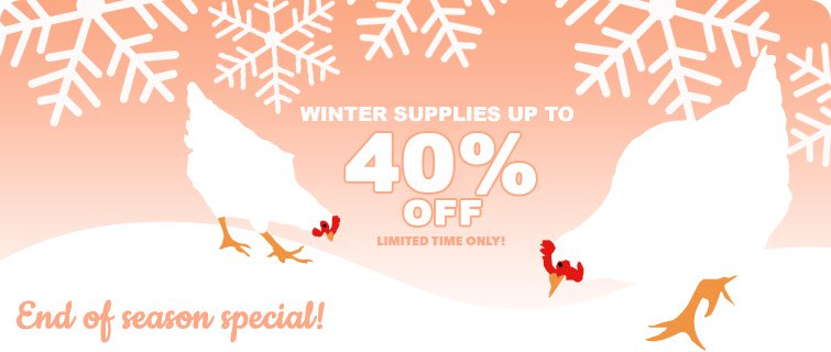 Winter Supplies Sale 2017