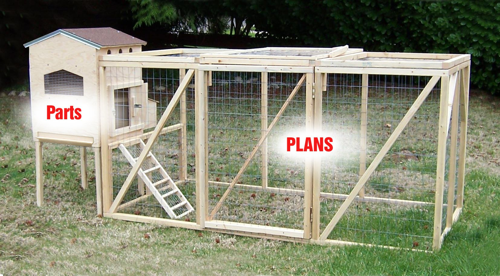 Small hen house diy starter kit 2 3 chickens from my pet for Diy small chicken coop