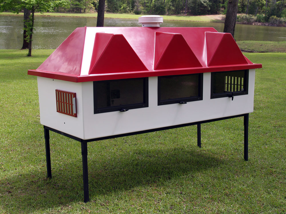 Fiberglass Geo 4 39 X 8 39 Rectangular Chicken Coop Up To 10