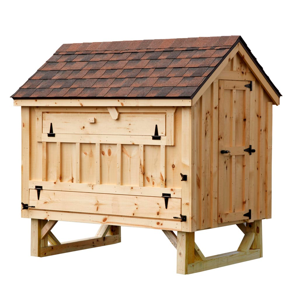 Cottage Style 4x6 Chicken Coop Up To 15 Chickens