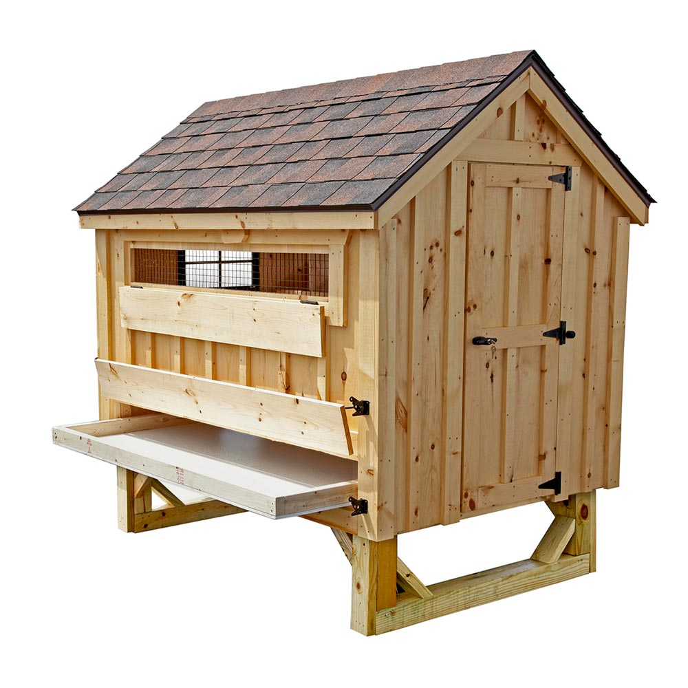 Cottage style 4x6 chicken coop up to 15 chickens from my for Chicken coop size for 6 chickens