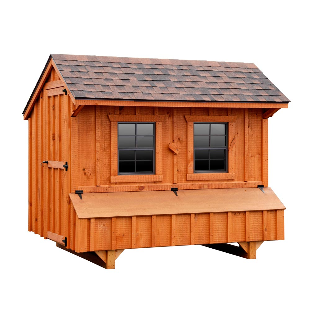 Craftsman 5x8 chicken coop up to 24 chickens from my pet for Chicken coop size for 6 chickens