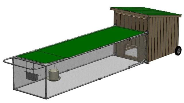 Big egg chicken tractor plans 8 0 chickens from my pet for Big chicken tractor