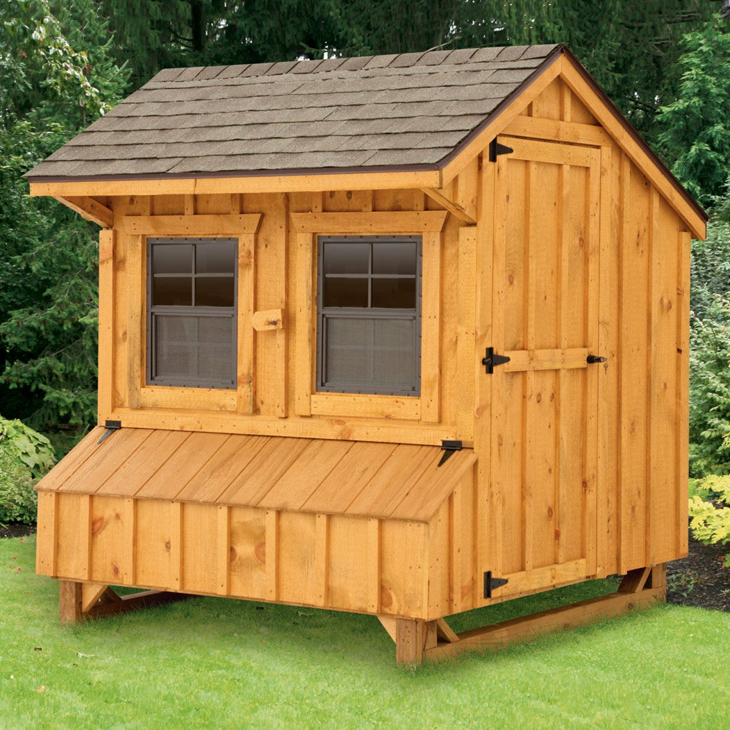 Craftsman 4x6 chicken coop for 12 15 chickens from my for Chicken coop size for 6 chickens