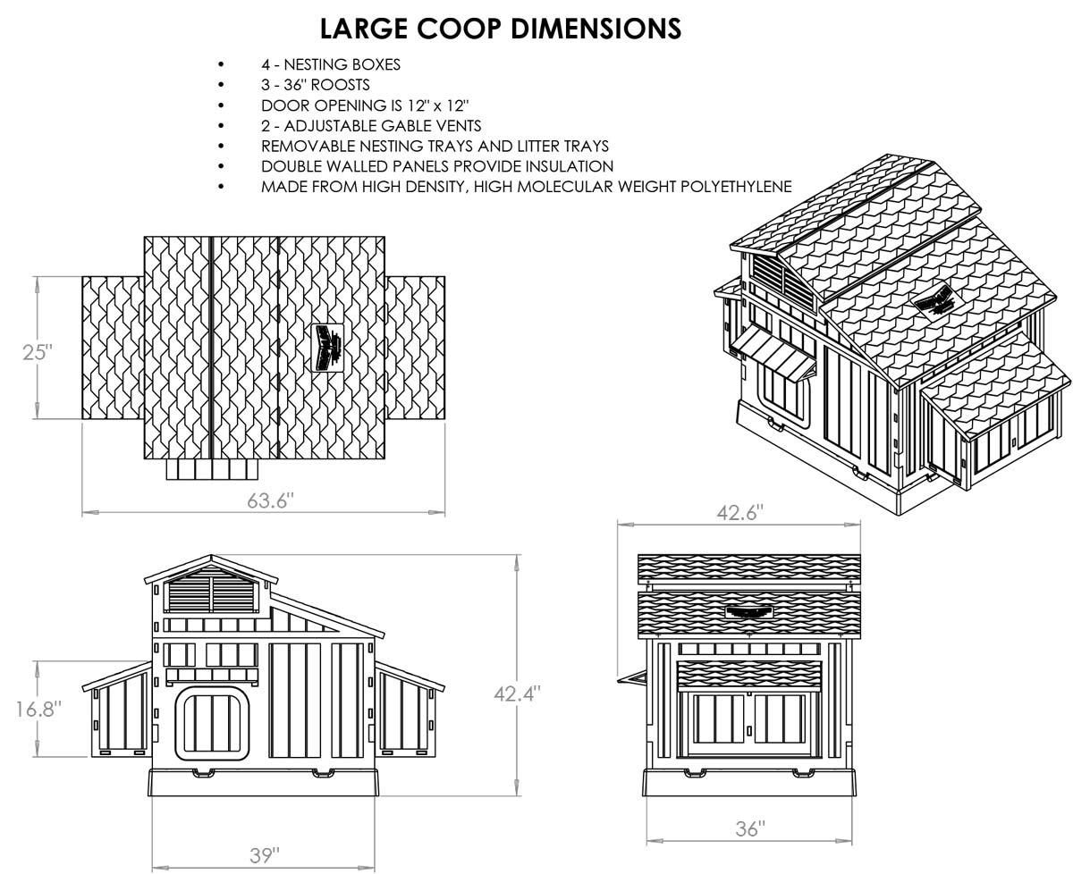formex large snap lock chicken coop  up to 8 chickens