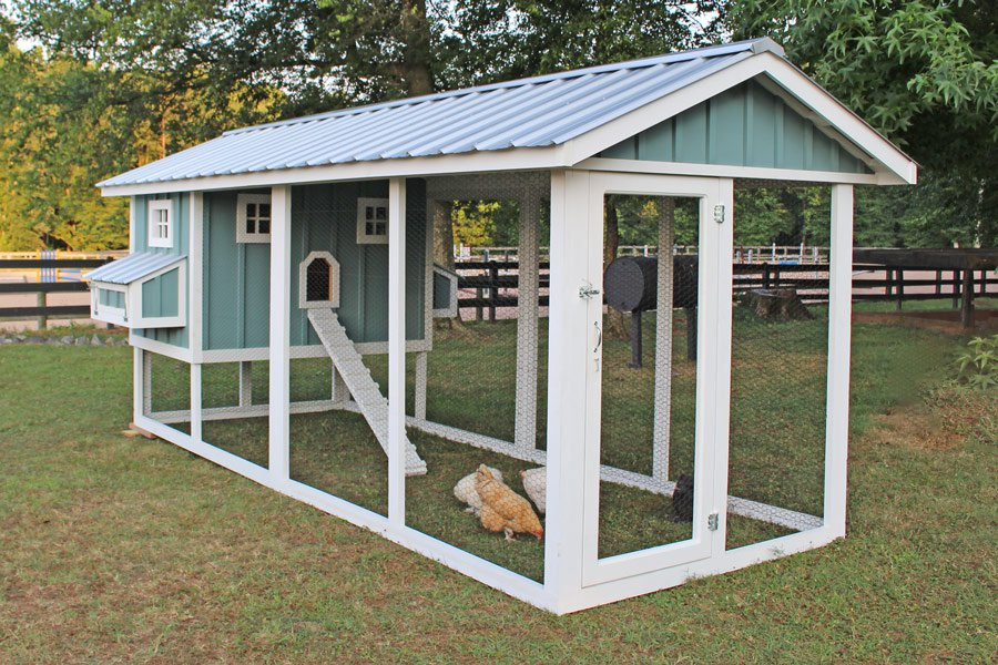 American coop chicken coop w 12 39 run up to 14 chickens for Chicken coop size for 6 chickens