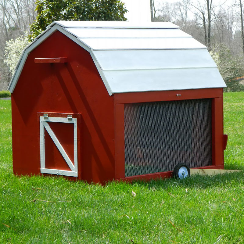 Minibarn mobile chicken tractor plans up to 6 chickens for Mobile chicken coop plans