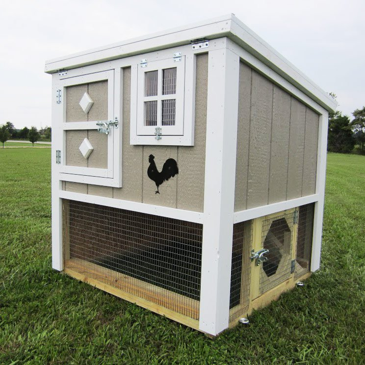 The loft chicken coop up to 6 chickens from my pet chicken for Chicken coop size for 6 chickens