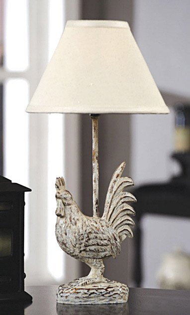 Resin Rooster Lamp