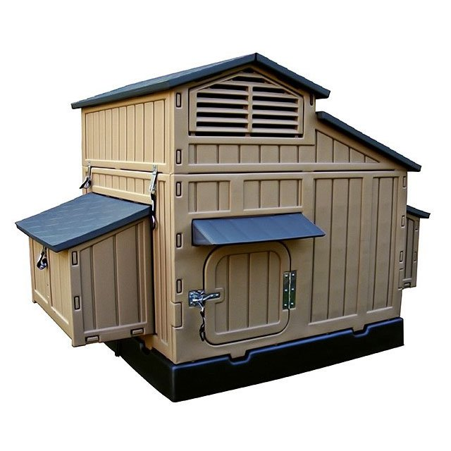 Formex large snap lock chicken coop up to 8 chickens for Chicken coop size for 6 chickens