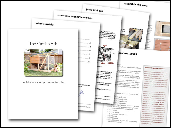 Garden ark building plans up to 4 chickens from my pet for Mobile hen house plans