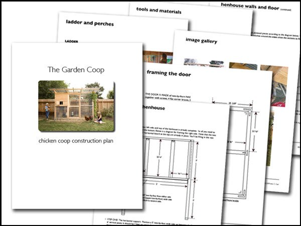 Garden Coop Building Plans Up To 8 Chickens
