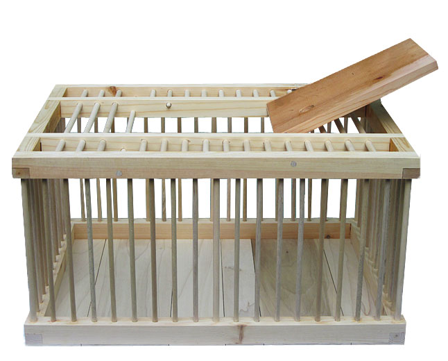 Handcrafted wooden chicken carrier from my pet chicken for Wooden chicken crate plans