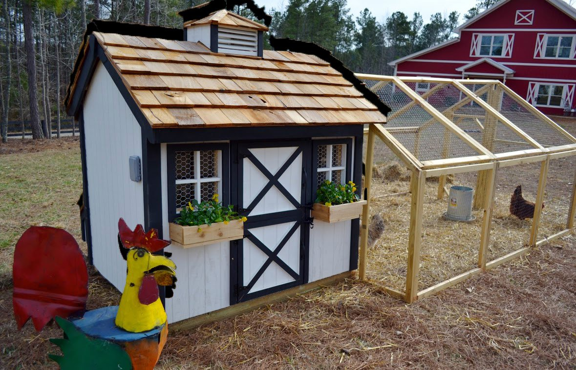 Ranch style house with front porch - Chicken Coops For 12 Chickens For Pinterest