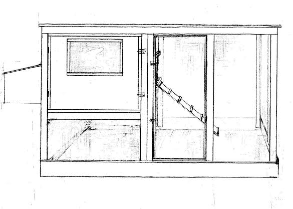 Family chicken coop plans up to 6 chickens from my pet for Simple chicken coop plans for 6 chickens