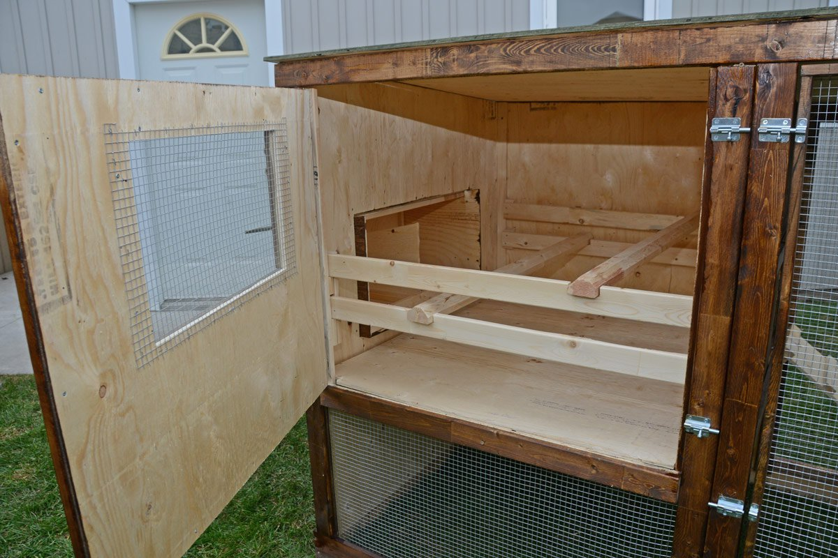 Us learn diy free chicken coop plans for 6 chickens for Chicken coop size for 6 chickens