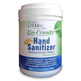 OSM Eco-Friendly Hand Sanitizing Wipes, 100 count