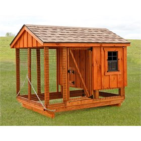 All-In-One 5x7 Chicken Coop plus Run (7-9 chickens)