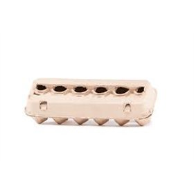 Pulp 12-Egg Carton - Brown