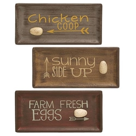 Egg-Themed Serving Trays (3 Assorted)