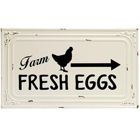 Farm Fresh Eggs Metal Ceiling Tile Style Sign