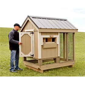 Combo 4'x6' Chicken Coop (Up to 7 chickens)