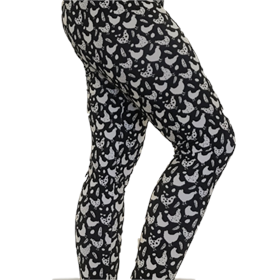 Chicken Leggings, Black and White (Size Small)