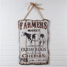 Farmers Market Large Wood Advertising Sign