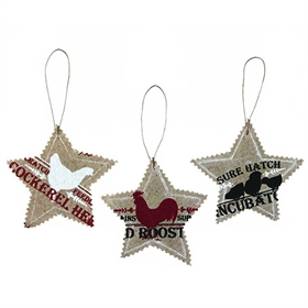Feed Bag Star Ornaments