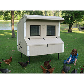 Fiberglass 5' x 6' Coop (Up to 15 Chickens)