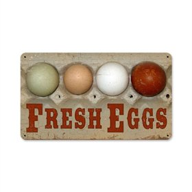 Fresh Eggs Sign, 14 x 8