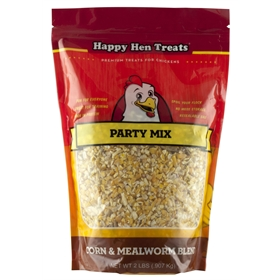 Happy Hen Treats Party Mix, Corn & Mealworm(2 lb)