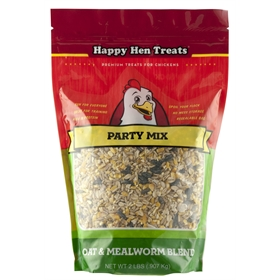 Happy Hen Treats Party Mix, Oat & Mealworm Blend (2 lb)