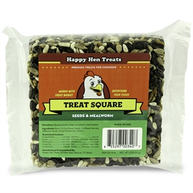 Happy Hen Treats - Treat Square, Seeds & Mealworm