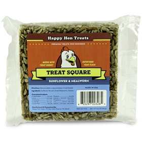 Happy Hen Treats - Treat Square,Sunflower & Mealworm
