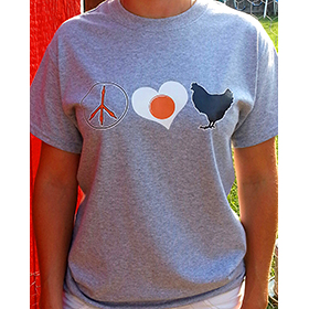 Peace, Love and Chickens Women's T-shirt