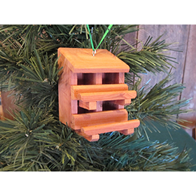 Double Decker Nest Box Ornament