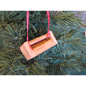 Handmade Chicken Feeder Ornament