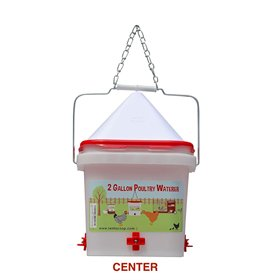 Drip-Free Nipple Waterer, 2 Gal w/No-Roost Cone (up to 20 chickens)