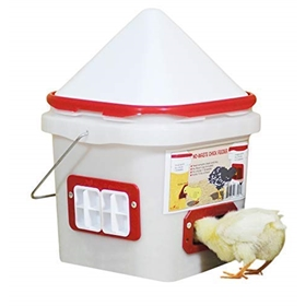10 lb Automatic Port Feeder with No Roost Cone for chicks 1-12 weeks
