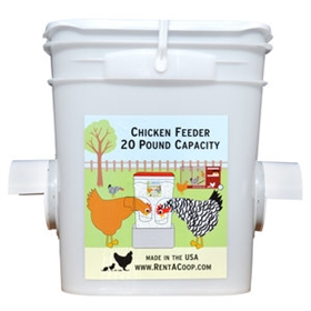 Waste-Free Chicken Bucket Feeder, Dual Port
