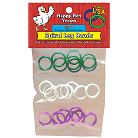 Poultry Identification Leg Bands (24 Pack)