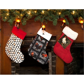 Hand-sewn chicken stockings, 3 styles