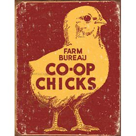 Farm Bureau Co-op Chicks Tin Sign