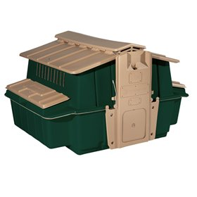 Ultimate Chicken Coop w/feeder and waterer (up to 6 chickens), Green
