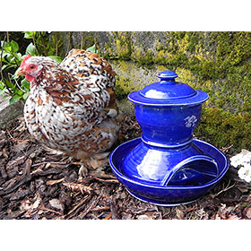 Artisan Ceramic Chicken Waterer