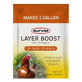 Durvet Layer Boost with Omega-3 for Poultry, 4 gm