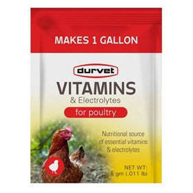 Durvet Vitamins & Electrolytes for Poultry, 5 gm