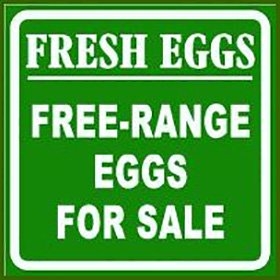 Free-Range Eggs Sign