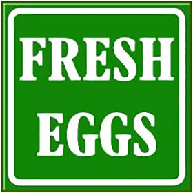 Fresh Eggs Green Sign